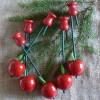 Baumkerzenhalter Apfel rot 5er-Set