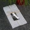Stoffserviette dunkelgrau weiß gestreift recycelt 2er Set