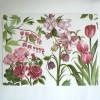 2 Tischsets Rosa Blumen Design Anna Linderholm