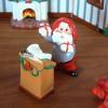Tomte-Raum: Tomte mit Geschenken undPult
