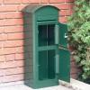 Grüner Großraumbriefkasten Safepost 80 mit Paketfach geöffnet