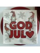 """20 Papier Servietten """"God Jul"""" zu Weihnachten"""
