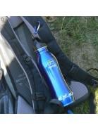 Für Elchfans: Trinkflasche 750 ml aus Edelstahl mit Karabinerhaken