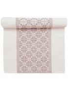 Tischläufer 140 x 40 cm Gunvor weiß rosa aus Baumwolle