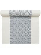 Tischläufer 140 x 40 cm Gunvor weiß blau aus Baumwolle