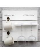 Wanddeko Küchenregal weiß mit schwedischer Beschriftung