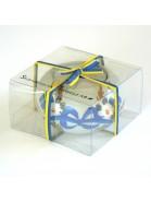 """In Geschenktverpackung: Teelichthalter """"Nya Sverige"""" handbemalt"""