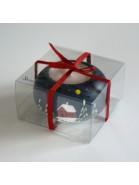 Kleiner Leuchter mit Wintermotiv als Mitbringsel verpackt