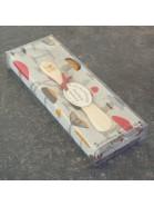 Geschenkpackung Geschirrtuch und Buttermesser Pilze