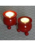 Typisch schwedische Kugelleuchter für Teelichter rot 2er-Set