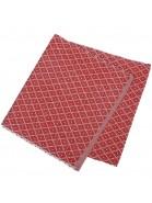 Tischläufer 120x33 cm Ella rot beige recycelt