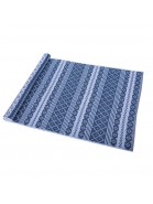 Teppich Erik blau weiß 70x160 cm Baumwolle recycelt