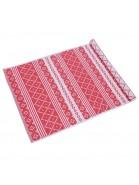 Teppich Erik rot beige 70x250 cm Baumwolle recycelt