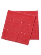 Tischläufer 120x33 cm rot silbergrau recycelt