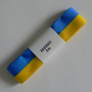 Schwedisches Geschenkband in den Nationalfarben blau-gelb