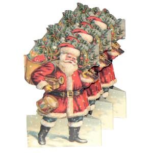 Papiergirlande Leporello Weihnachtsmann