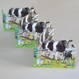 Ländliche Papierdeko: Leporello mit Kühen