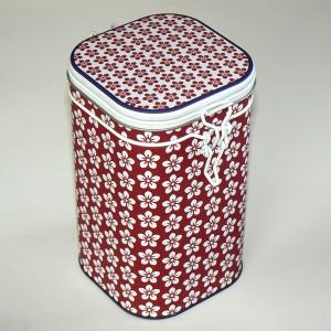 Bügelverschluss Dose Scandic rot weiß