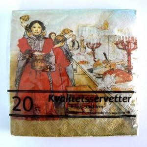 20 Papier Servietten Carl Larsson Heiligabend