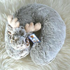 Mitbringsel: Nackenhörnchen / Nackenkissen Elch