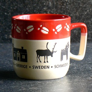 Kaffeebecher / Teebecher Elchspur rot