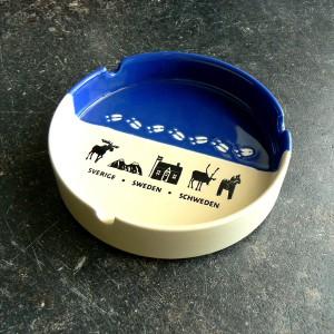Aschenbecher Elchspur blau