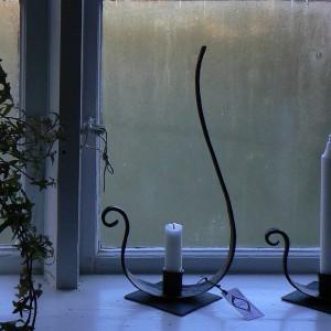 Handgeschmiedeter Kerzenhalter aus Schweden