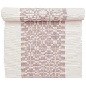 Tischläufer 140 x 40 cm Gunvor weiß rosa