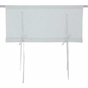 Rollgardine Raffgardine Binderollo hellgrau-weiß gestreift 120 cm
