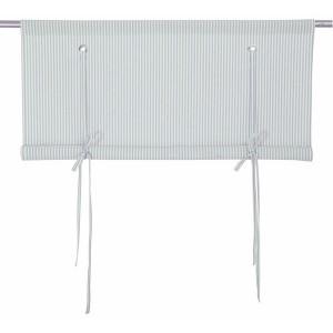 Rollgardine Raffgardine Binderollo hellgrau-weiß gestreift 100 cm
