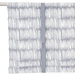 Rollgardine Brigitta hellgrau weiß 120 cm