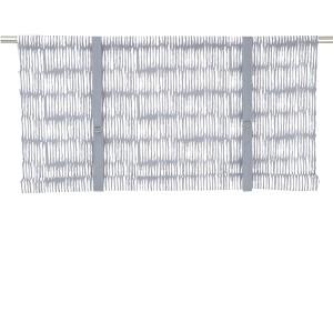 Rollgardine Brigitta hellgrau weiß 140 cm
