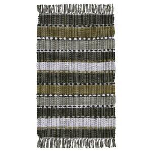 Teppich Erdtöne 70x140 cm Baumwolle gewebt