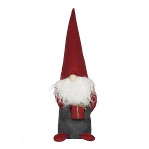 """Schwedische Weihnachtsdeko: Tomte """"Jätten"""" mit einem Geschenk in den Händen; 50 cm"""