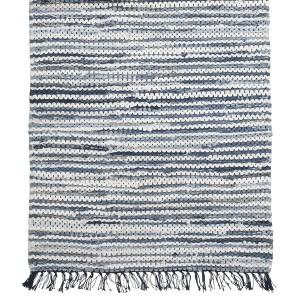 Maritimer Läufer blau weiß gestreift 70x240 cm Baumwolle