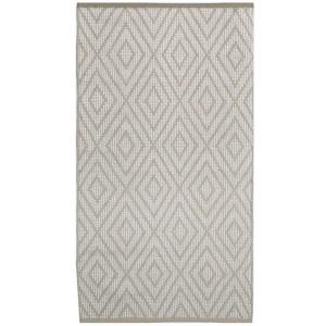Teppich Rauten beige 70x140 cm Baumwolle