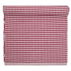 Tischläufer rot-weiß gewebt 120 x 35 cm
