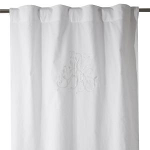 Gardinenschal / Vorhangschal bestickt weiß 100% Baumwolle2er-Set
