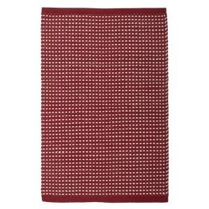 Teppich Vilde weinrot weiß 70x140 cm Baumwolle