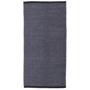 Maritimer Teppich Vilde blau weiß aus Baumwolle