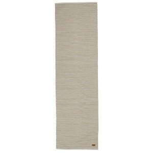 Ideal für den Flur: Teppich beige gestreift 70x240 cm Baumwolle