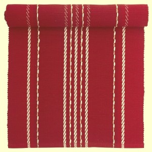 """Tischläufer """"Juletid"""" rot gewebt 120 x 35 cm aus Baumwolle"""