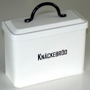 Knäckebrotdose schwarz-weiß