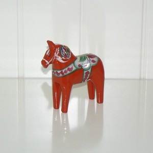 Dala-Pferd 10 cm rot