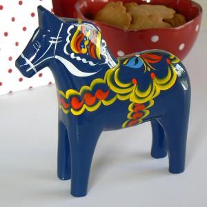 Dalapferd 15 cm blau