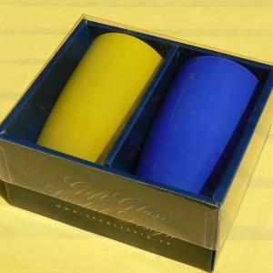 Geschenk-Set: 2 Gläser in schwedischen Farben