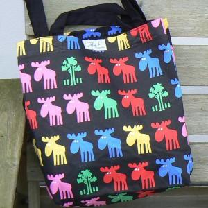 Design Mia L.: Bunte Elche-Tasche mit kurzen Riemen ...