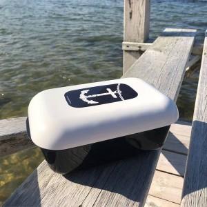 Frozzypack Lunchbox mit Kühlfunktion im Deckel mit Anker Motiv