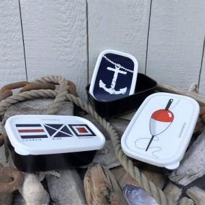 3 maritime Miniboxen aus Kunststoff