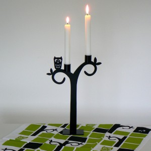 Pluto Produkter Kerzenständer / Kerzenleuchter Eule aus Schweden